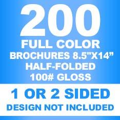200 Brochures 8.5