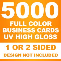 5000 12pt Business Cards (UV Glossy)