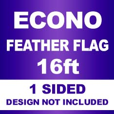 ECONO Feather Flag 16ft 1Sided